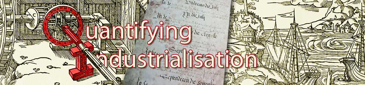 Quantifying Industrialisation in England and Wales, 1565-1688